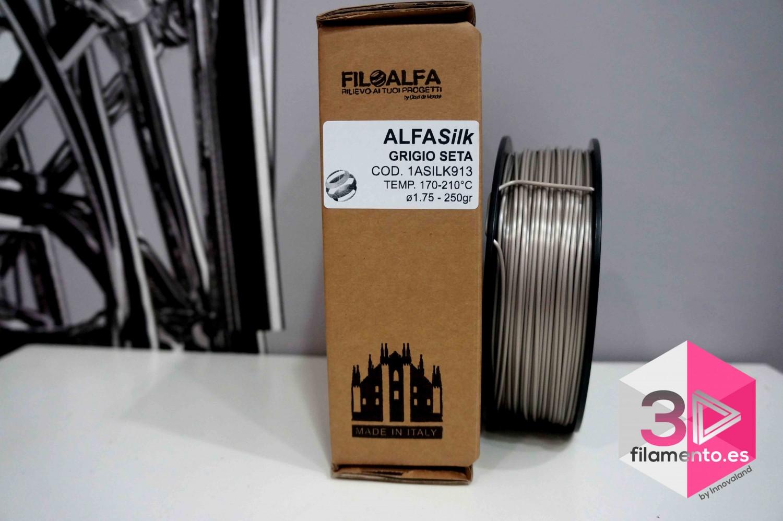 PLA Silk Alfasilk Filoalfa 250gr Gris Seda [AGOTADO]