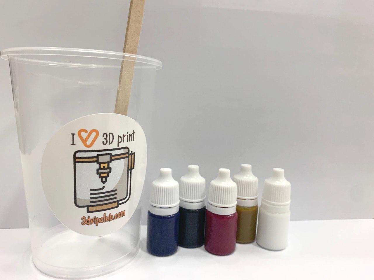 Kit tinte para resina UV 5ml x 5 UVip