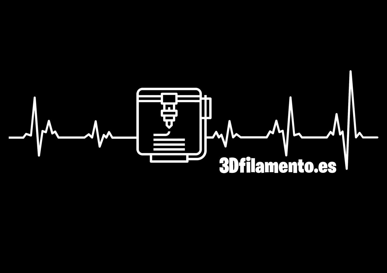 Camiseta latido corazón impresión 3D