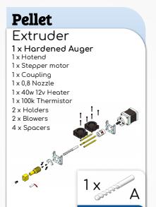 Extrusor UPE [Universal Pellet Extruder] V3  by Mahor XYZ [ENTREGA DE 7 A 10 DÍAS]