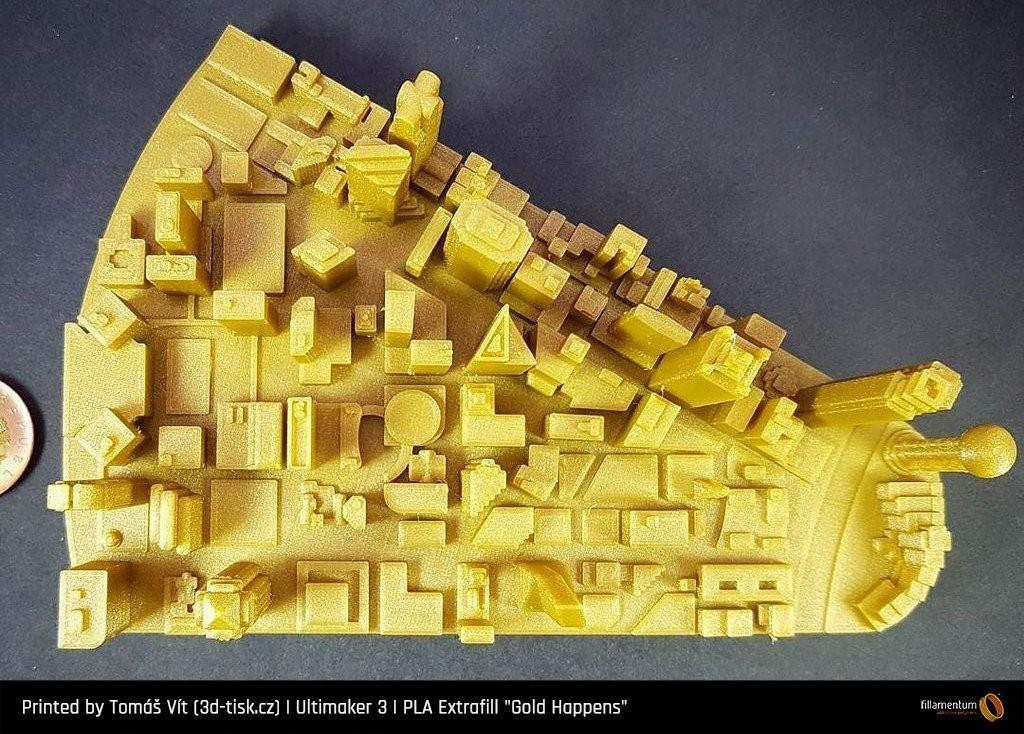 Bobina filamento FILLAMENTUM Extrafill premium PLA Gold Happens