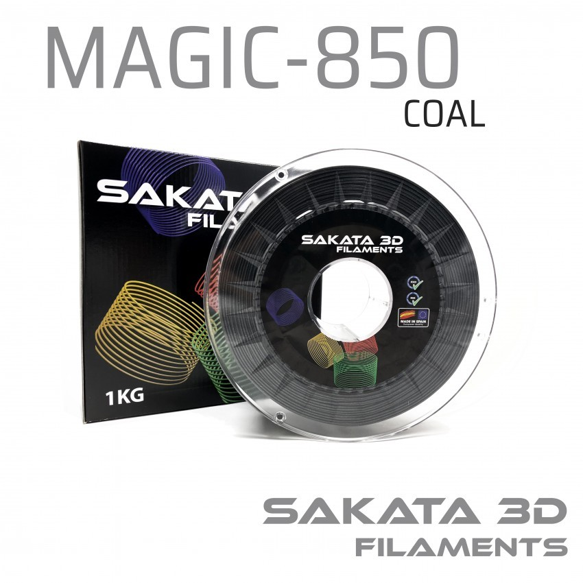 Filamento Sakata PLA 850 50gr Magic Coal -ESPECIAL-