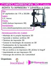 TALLER 3D + IMPRESORA 3D (27 DE SEPTIEMBRE)