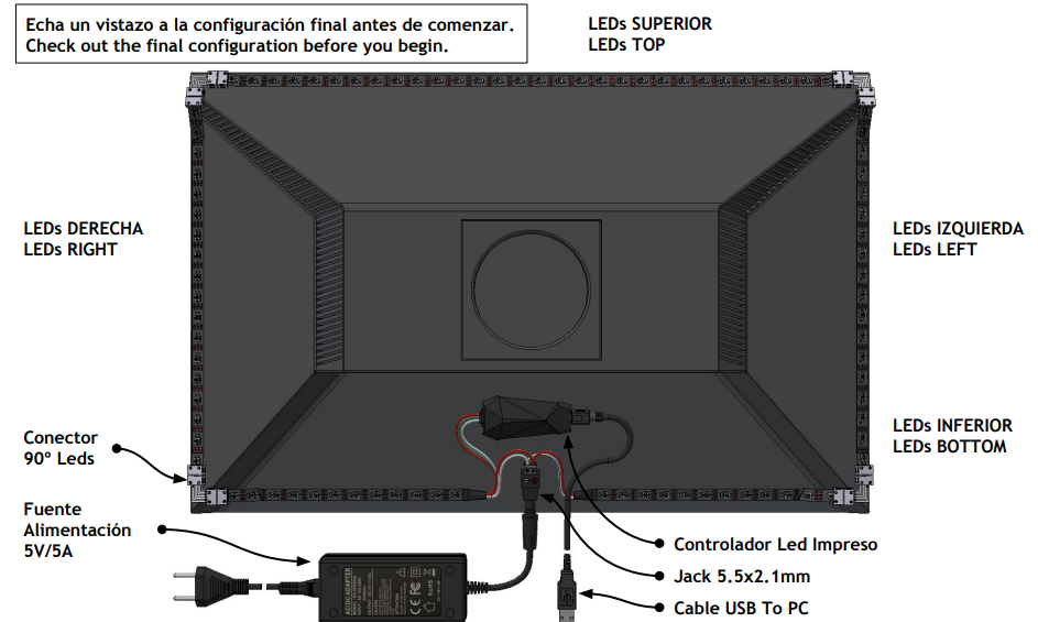 Ambilight DIY kit para PC [Leds4game]