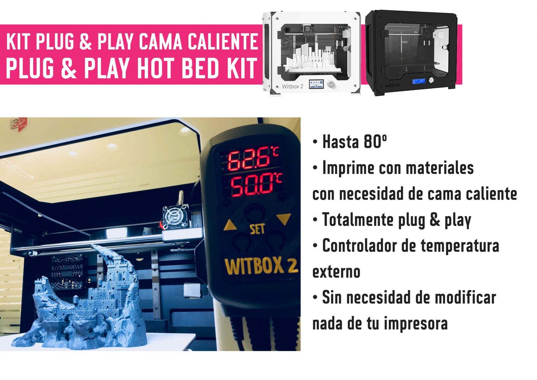 Cama caliente DIY externa para Witbox 2 / Witbox 1