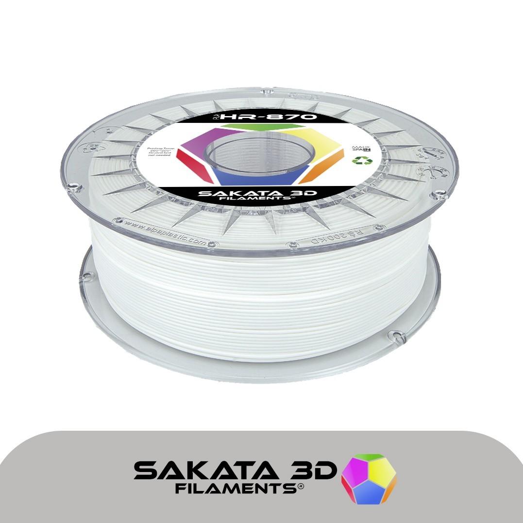 Sakata filamento HR PLA 870 1kg blanco  [AGOTADO]
