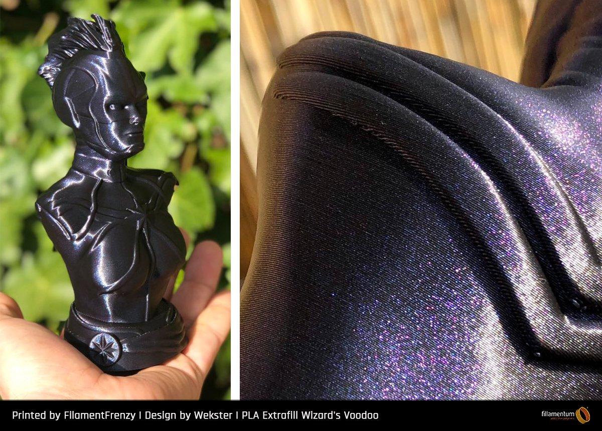 Muestra filamento FILLAMENTUM Extrafill premium PLA Wizard's Voodoo