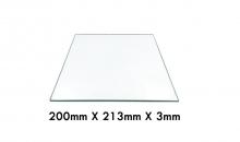 Cristal 200mm x 213mm x 3mm para impresora 3D