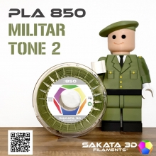 Filamento Sakata PLA 850 1KG militar 2