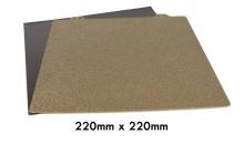 Base de acero con revestimiento PEI texturizado 220mm x 220mm