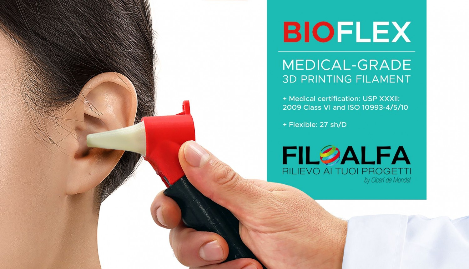 Filamento Filoalfa BIOFLEX - FLEXIBLE 27 SHORE D Ø 1.75 MM