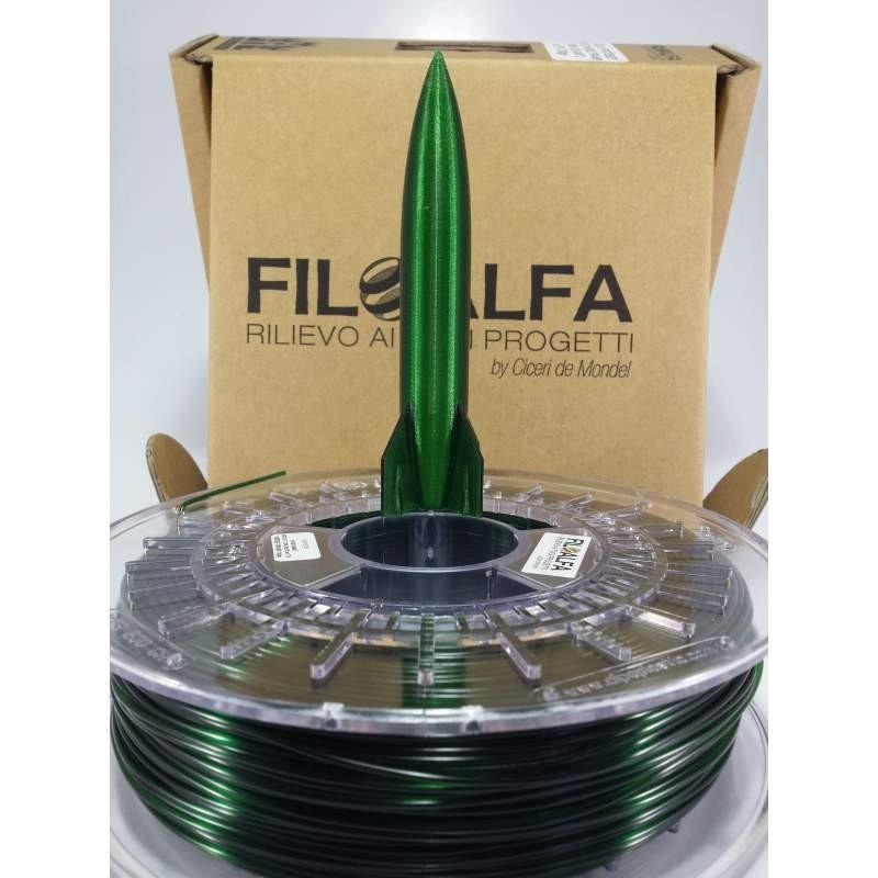 Filoalfa filamento PETG TRANSPARENT GREEN Ø 1,75 MM