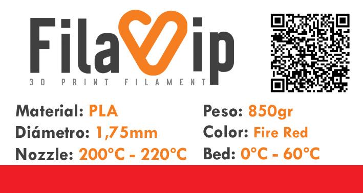 FilaVIP PLA Fire Red