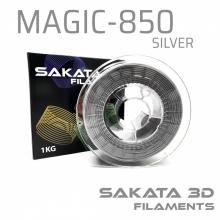 Filamento Sakata PLA 850 1KG Magic Silver -ESPECIAL-